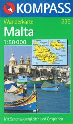Malta Hiking Map by Kompass