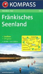 Frankisches Seenland, Neues Hiking Map by Kompass