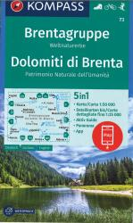 Brenta Group 5 in1 Hiking Map by Kompass