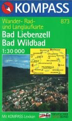 Bad Liebenzell & Bad Wildbad Hiking Map by Kompass