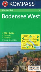Bodensee West Hiking Map by Kompass