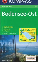 Bodensee East Hiking Map by Kompass