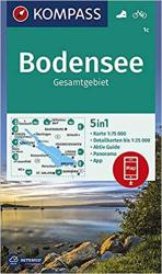 Bodensee/Lake Constance Hiking Map by