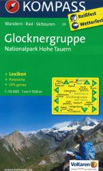 Glocknergruppe Hiking Map by