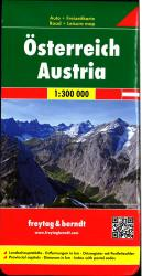 Austria Road Map by Freytag, Berndt und Artaria