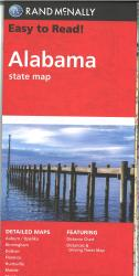 Easy to Read Alabama State Map by Rand McNally