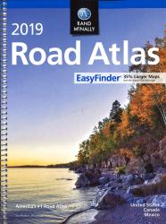 United States, Canada and Mexico, 2019 Midsize EasyFinder Road Atlas by Rand McNally