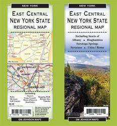 East Central New York State, Regional Map by GM Johnson