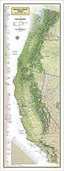 Pacific Crest Trail Wall Map, Laminated by National Geographic Maps