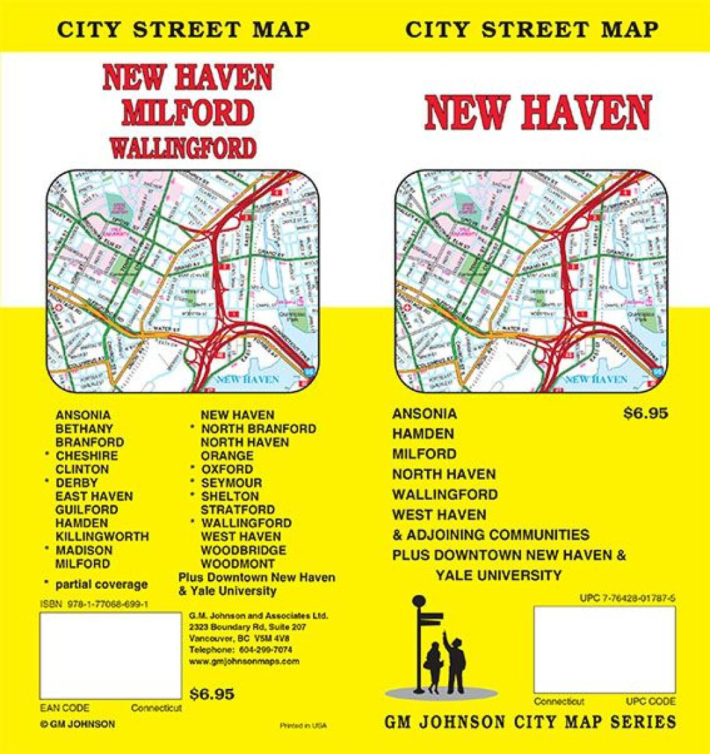 new haven ct map by gm johnson. Black Bedroom Furniture Sets. Home Design Ideas