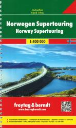 Norway Supertouring, Road Atlas by Freytag-Berndt und Artaria