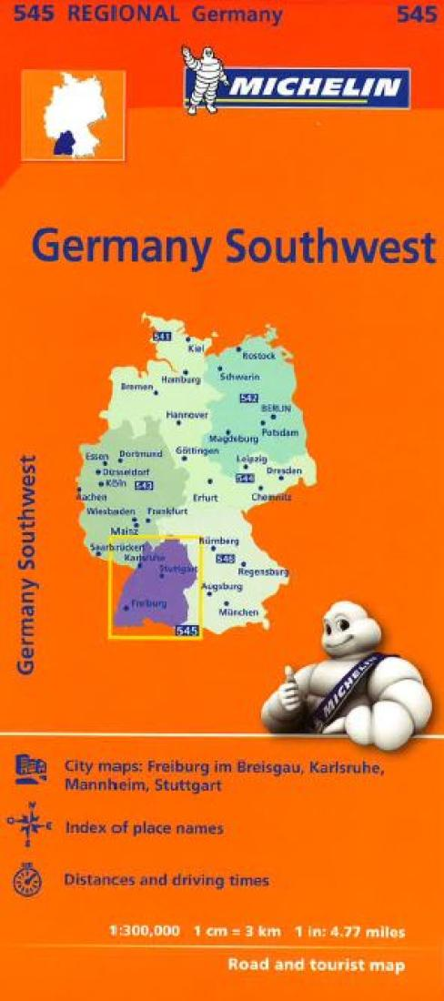 Germany Southwest By Michelin Maps And Guides - Michelin germany southwest map 545