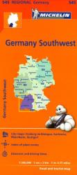 Germany, Southwest (545) by Michelin Maps and Guides