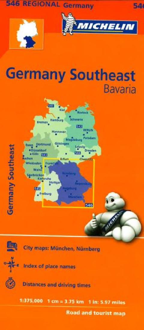 Michelin Map Of Germany.Germany Southeast 546 By Michelin Maps And Guides