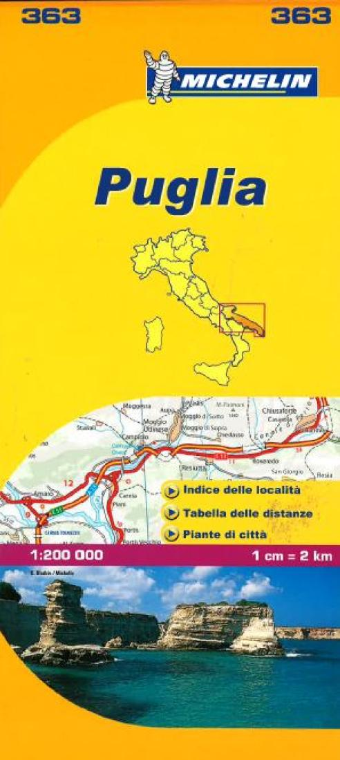Puglia Italy 363 By Michelin Maps And Guides
