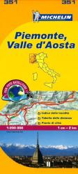 Piemonte and Valle D'Aosta, Italy (351) by Michelin Maps and Guides