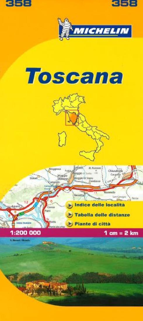Tuscany, Italy (358) by Michelin Maps and Guides