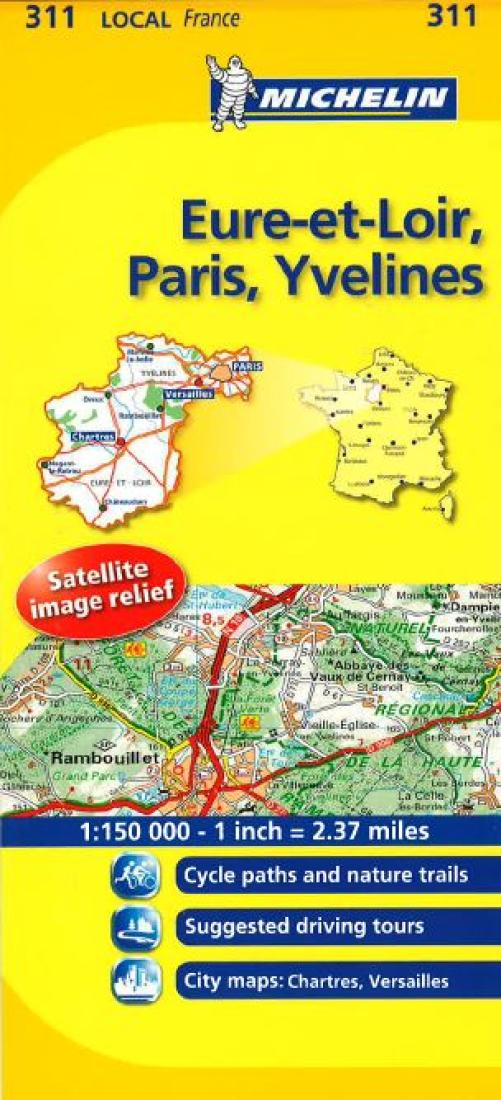 Map Of Yvelines France.Eure Et Loir Paris Yvelines 311 By Michelin Maps And Guides