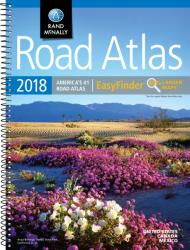 United States, Canada and Mexico, 2018 Midsize Deluxe Easy to Read Road Atlas by Rand McNally