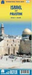 Israel & Palestine Travel Map by International Travel Maps
