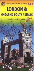 London & England South/Wales Travel Map by International Travel Maps