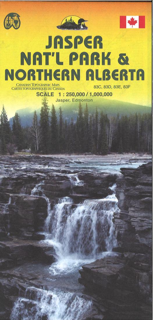 Jasper National Park and northern Alberta Travel Map by International  Travel Maps
