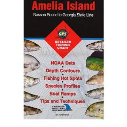 Amelia Island - Nassau Sound to Georgia State Line saltwater fishing map by Fishing Hot Spots