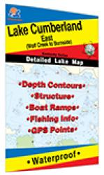 Lake Cumberland-East (Wolf Creek To Burnside) fishing map by Fishing Hot Spots