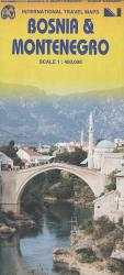 Bosnia & Montenegro Travel Map by International Travel Maps