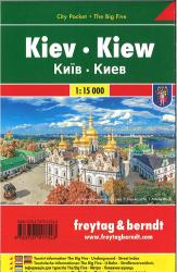 Kiev, Ukraine city map by Freytag und Berndt