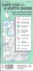 Cape Cod, The Islands and North Shore, Road and Bicycle Map by Rubel BikeMaps