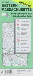 Massachusetts, Eastern, Road and Bicycle Map, waterproof by Rubel BikeMaps
