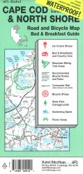 Cape Cod, The Islands and North Shore, Road and Bicycle Map (waterproof) by Rubel BikeMaps