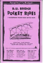 B.U. Bridge, Massachusetts, Lam Bike Map Cards by Rubel BikeMaps