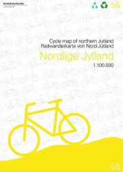 Cycle Map of Northern Jutland by Nordisk Korthandel