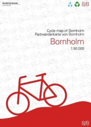Cycle Map of Bornholm by Nordisk Korthandel