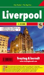 Liverpool, England - City Pocket Map by Freytag, Berndt und Artaria
