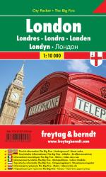 London, City Pocket Map by Freytag, Berndt und Artaria