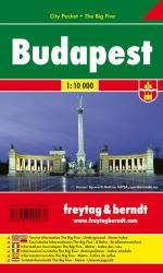 Budapest, Hungary - City Pocket Map by Freytag, Berndt und Artaria