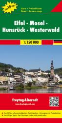 Eifel, Mosel, Hunsruck, Westerwald - Germany Road and Leisure Map by Freytag, Berndt und Artaria