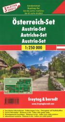 Austria Map Set of 3 by Freytag, Berndt und Artaria