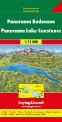 Lake Constance/Bodensee, Panoramic Map by Freytag, Berndt und Artaria