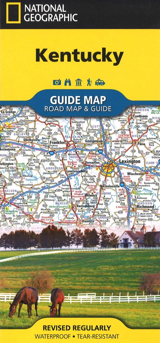 Kentucky GuideMap by National Geographic Maps on crestwood ky map, clover bottom ky map, danville ky map, russellville ky map, lexington ky map, richmond ky map, columbia ky map, franklin ky map, lancaster ky map, park hills ky map, lakeside ky map, middletown ky map, blackwater ky map, kirksville ky map, ashland ky map, augusta ky map, bethel ky map, georgetown ky map, boonesborough ky map, wellington ky map,