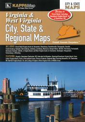 Virginia & West Virginia - City, State, and Region Atlas by Kappa Map Group
