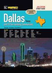 Dallas, Texas, Atlas, with 55 Surrounding Communities by Kappa Map Group