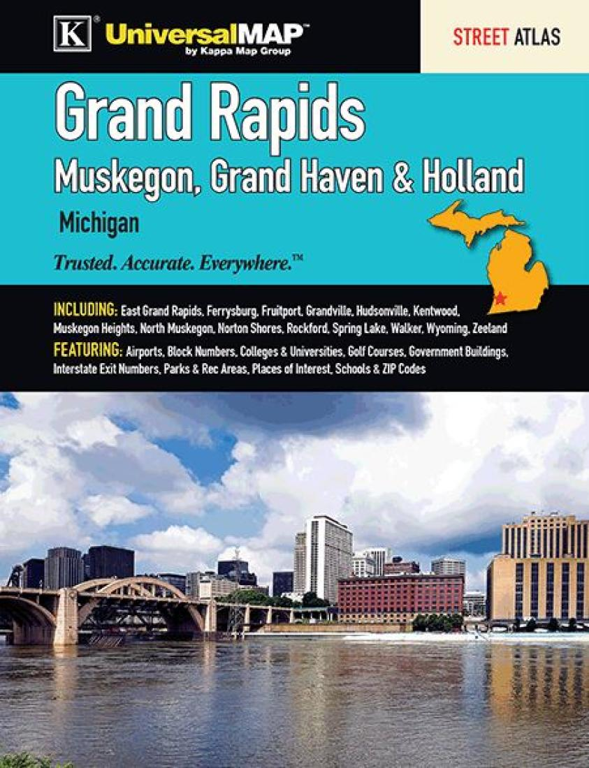 Grand Rapids Street Atlas Muskegon Grand Haven Holland By