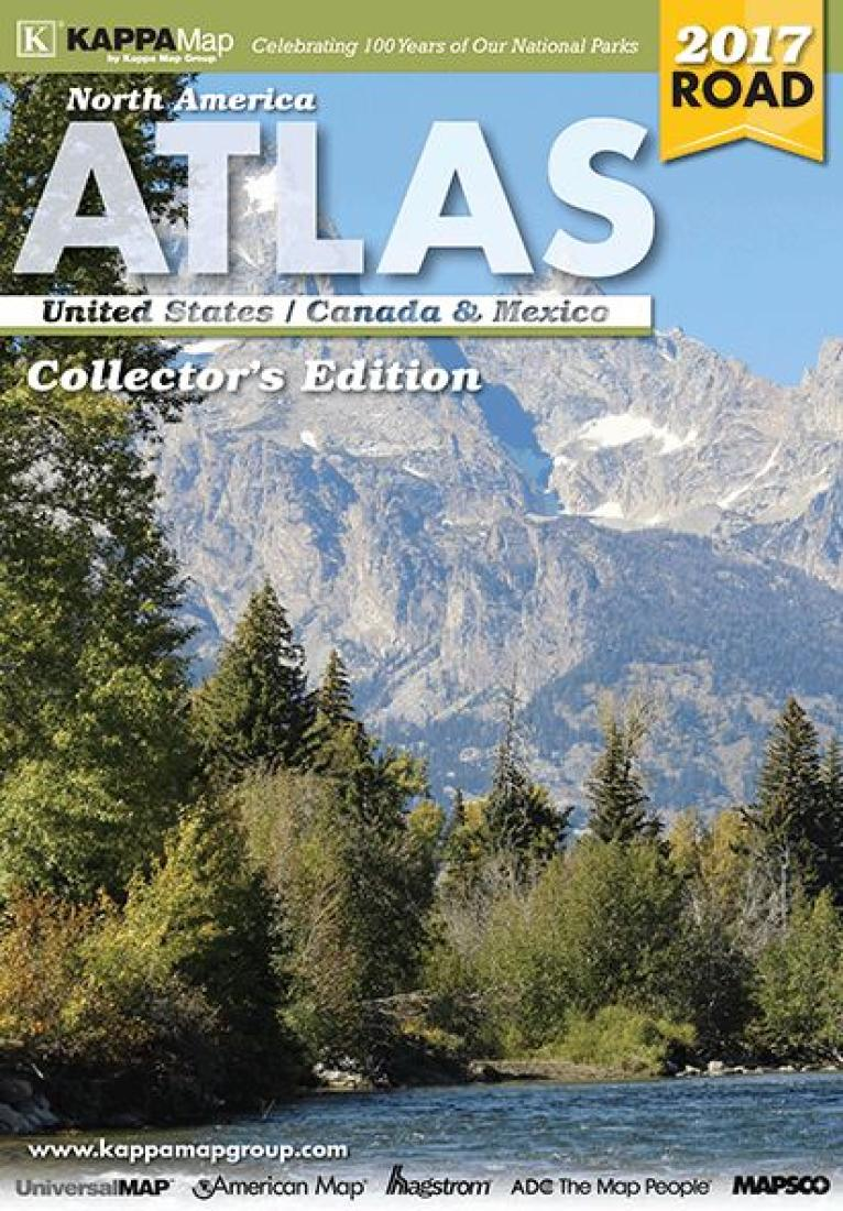North America Deluxe Road Atlas by Kappa Map Group