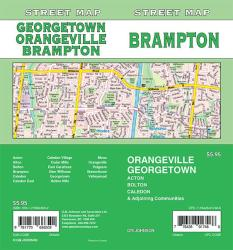 Brampton / Orangeville / Georgetown, Ontario Street Map by GM Johnson