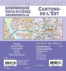 Cantons-de-l'Est / Sherbrooke / Trois-Rivieres, Quebec Street Map by GM Johnson