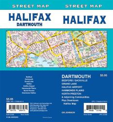 Halifax / Dartmouth, Nova Scotia Street Map by GM Johnson